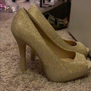Sparkling Gold Heels